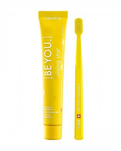 Набір: Відбілююча зубна паста Curaprox 'Be you' RISING STAR (ВИСХІДНА ЗІРКА), 90ml та ультра-м'яка зубна щітка.