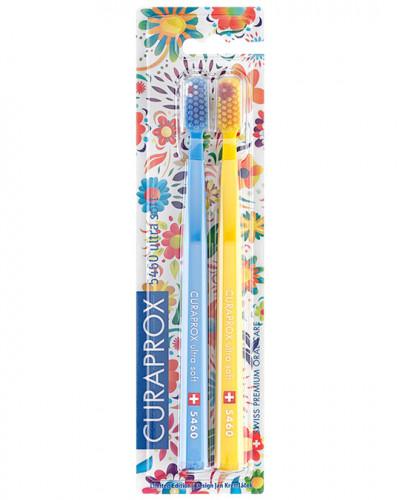 """CS 5460 Hawaii Edition (light blue, yellow). Набір зубних щіток Ultra Soft"""", d 0,10 мм (2 шт.)"""