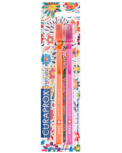 """CS 5460 Hawaii Edition (orange, pink). Набір зубних щіток Ultra Soft"""", d 0,10 мм (2 шт.)"""